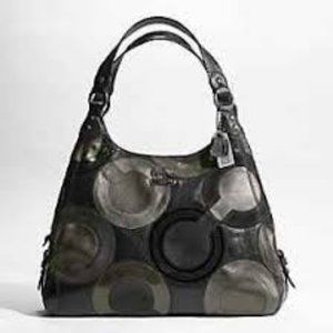 Coach Inlaid Op Art Hobo Leather Maggie 14298